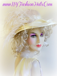 Beige Pink White Black Lavender Wide Brim Hat Ladies Fashion Hats 3RP