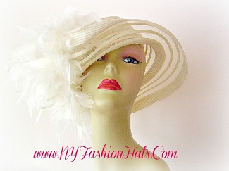 Ladies Designer Dressy Hat Black Ivory White Pink Orange Hats 3347