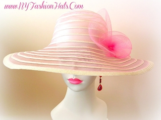 Pink Turquoise Ivory Black White Lime Green Designer Hat Ladies Hats