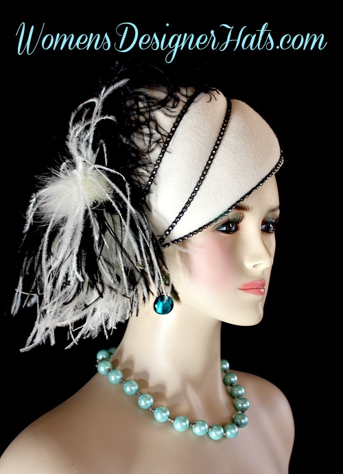 Ladies Ivory Custom Made Winter Wool Shaped Pillbox Designer Fashion Hat.  This Elegant Ladies Hat Is Inspired By The 1920s Flapper And Art Deco Era  Hats. 64906767cfa