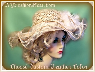 Ladies Hats Taupe Beige Tan Brown Ivory Designer Hat For Women 4JUQ