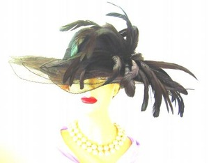 Hats Black Wide Brim Formal Designer Dressy Ladies Fashions 7VEZ
