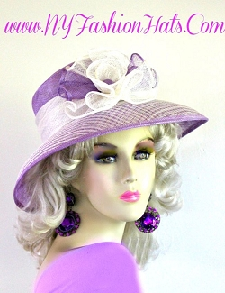 Ladies Lavender Purple Ivory Coffee Peach Lime Pink Beige Straw Hat 8UYS