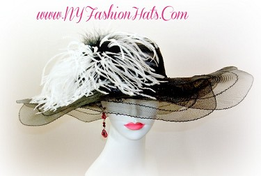 Black White Ivory Lavender Pink Red Navy Turquoise Brown Designer Hats