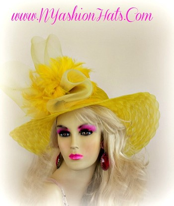 Yellow Lime Green Navy Blue Black White Ivory Hat Ladies Hats 3VNY