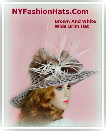 Brown Black And White Fashion Designer Formal Hat Ladies Hats 4NTU