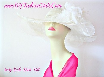 Kentucky Derby Hats Ivory Wedding Church Formal Hat NY Fashion Hats
