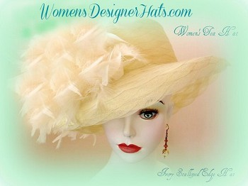 Designer Hats Ivory Brown Navy Red Purple Pink Black Women's Dress Hats
