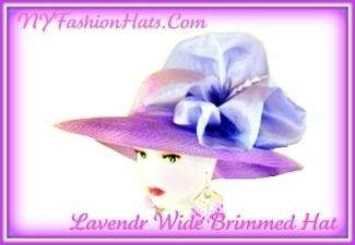 Lavender Purple Wide Brim Organza Bow Ladies Tea Fashion Hat UB23