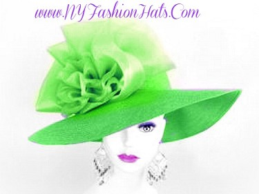 Lime Green Lavender Purple Yellow Orange Black Blue Ladies Hats N891
