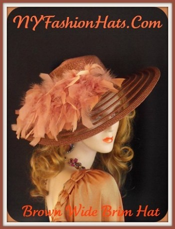Ladies Hats Brown Ivory Antique Gold Black Pink Fashion Hats 7QWS