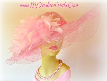 Kentucky Derby Hats Pink Wedding Church Dress Hat NY Fashion Hats