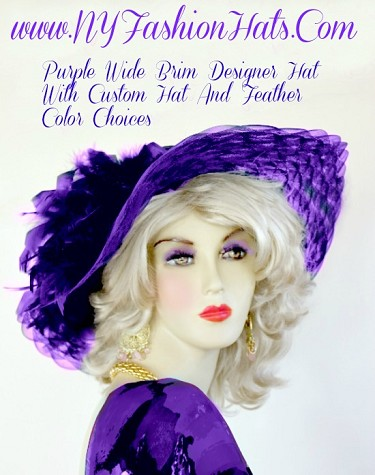 Kentucky Derby Hats Purple Ivory Pink Red Lime Yellow Designer Hats