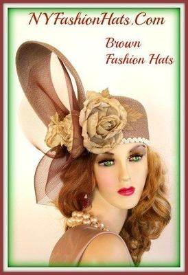 Taupe Beige Soft Brown Tan Women's Designer Hat Fashion Hat 445