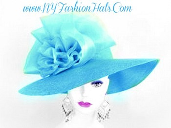 Turquoise Blue Lavender Purple Yellow Orange Black Blue Ladies Hats