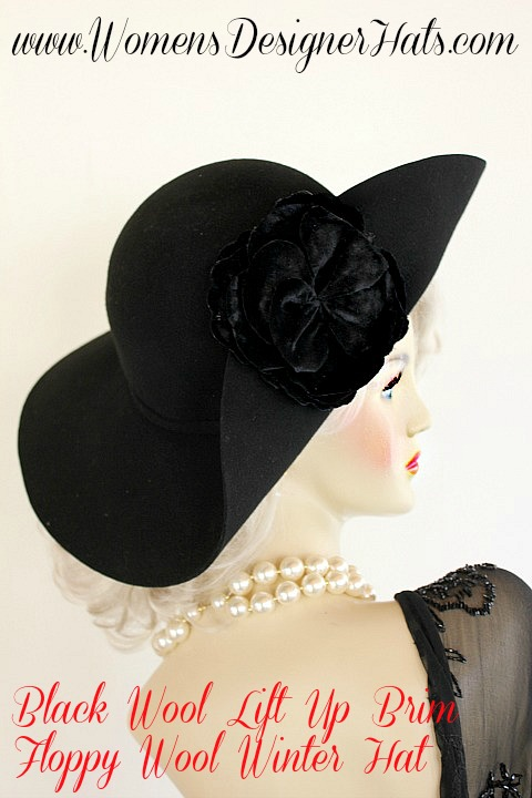059c2b1c685bd This Floppy Brim Fashion Hat Will Be A Flattering Addition To Any Women s  Wardrobe. Hand Made By WomensDesignerHats.com