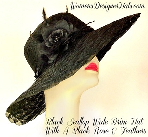 Designer Hats Black Purple Lime Orange Ivory Red Navy Women's Hats