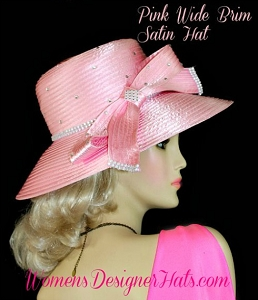 Fashion Hats Pink Designer Kentucky Derby Wedding Bridal Women's Hat
