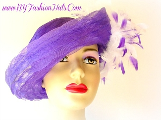 Purple Red Navy Blue Pink Black Ivory Pink White Ladies Dress Hat LX3