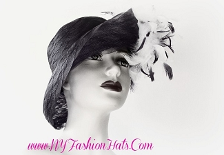 Black Designer Kentucky Derby Church Dress Hat For Women 34478 Hats