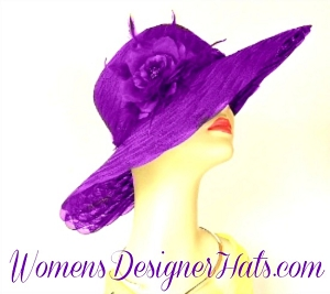 Kentucky Derby Hat Purple Pink Yellow Orange Brown White Women's Hats