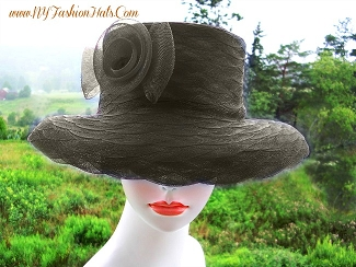 Black Red Purple Navy Blue Brown White Pink Ivory Ladies Fashion Hat