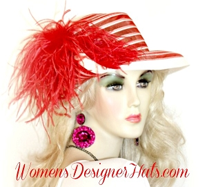 Red Ivory Navy Black Brown Orange Pink White Designer Hat Woman's Hats