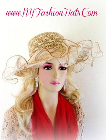 Beige Tan Ivory Taupe Designer Fashion Hat For Women Hats 8BDS