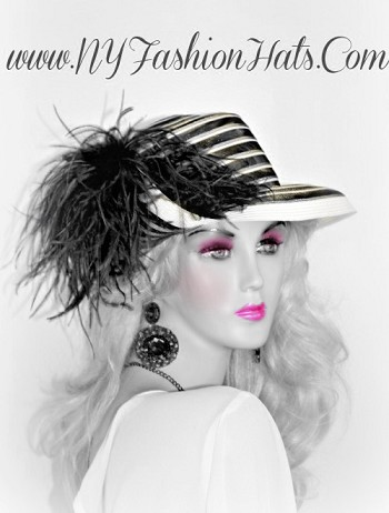 Black Ivory Red Designer Dressy Church Hat For Women Hats T334