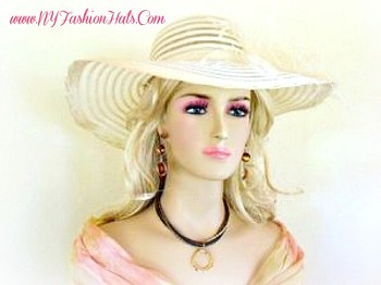 Ivory Or Black Special Occasion Kentucky Derby Hat Ladies Hats 2QLZ