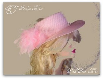 Pink Red Dressy Special Occasion Hat For Women