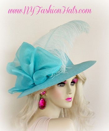 Kentucky Derby Hats Turquoise Blue Black Yellow Pink Lime Green Hat